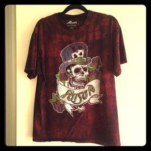 Poison Men's Large Vintage Look T-shirt